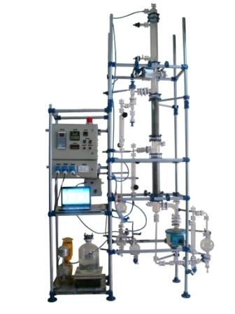 Computer controlled continuous distillation unit