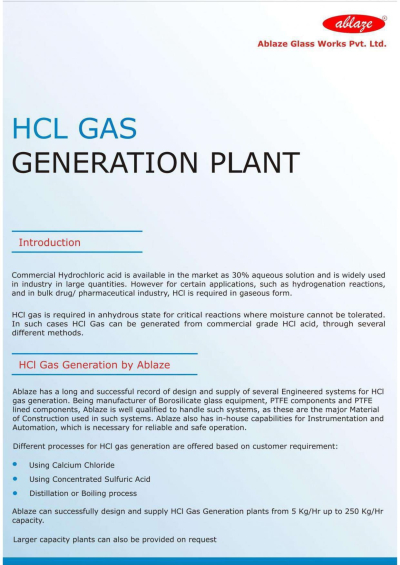 HCl Gas generation plant_Ablaze-cover page